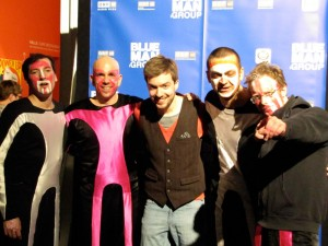 Me and the Blue Man Band @ my last show in Vienna