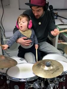 Having fun with my son..